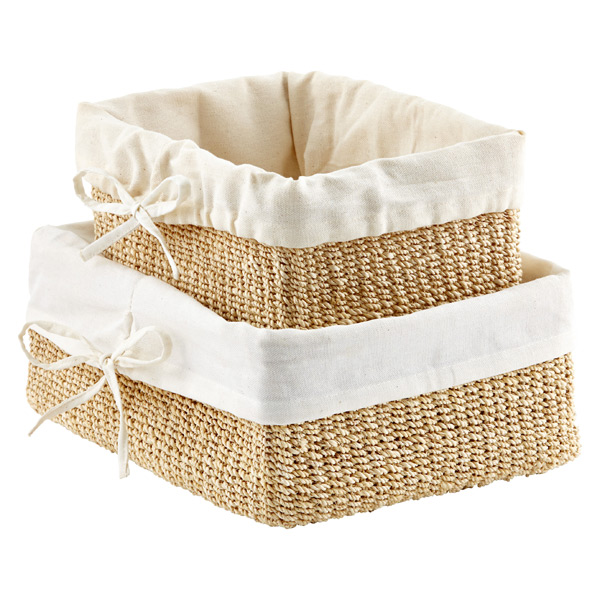 Natural Lined Makati Storage Baskets
