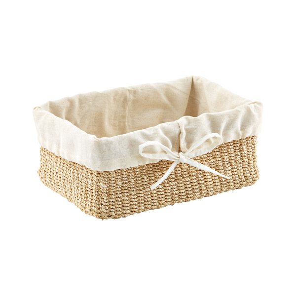 Small Makati Lined Basket Natural