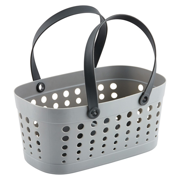 Casabella Flexible Shower Tote Grey