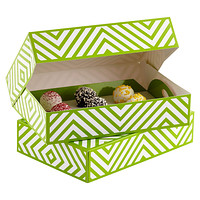 Green Chevron Food Gift Boxes