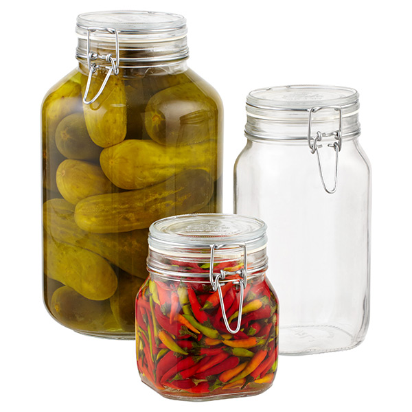 Bormioli Hermetic Glass Storage Jars