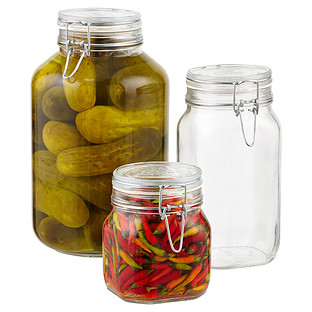 Hermetic Glass Storage Jars