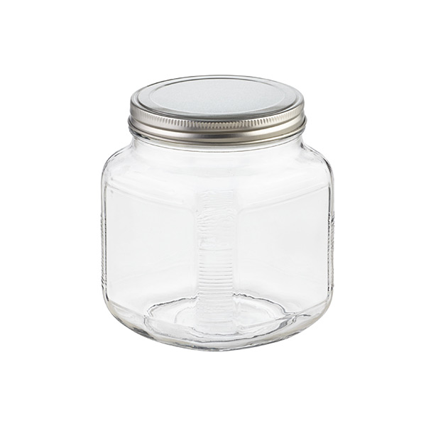 anchor 1 qt. Glass Cracker Jar Aluminum Lid