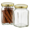6.5 oz. Commercial Square Glass Jar
