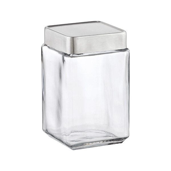 anchor 1.5 qt. Glass Canister Aluminum Lid