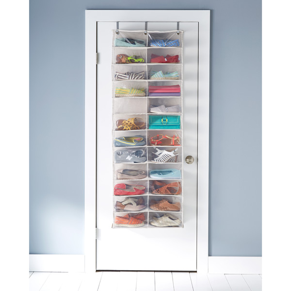 over the door shoe organizer 24 pocket over the door shoe organizer the container store. Black Bedroom Furniture Sets. Home Design Ideas