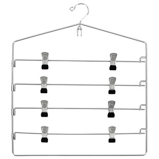 Chrome Metal 4-Tier Swing-Arm Skirt Hanger