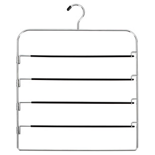 Chrome Metal 4-Tier Swing-Arm Pant Hanger