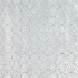 Vivid Wrap Silver Glitter Circles Recycled Wrapping Paper