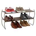 Bronze Carrie Stacking Shoe Shelf by Umbra
