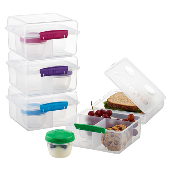 Sistema Klip-It Lunch Cube Max To Go Bento Box
