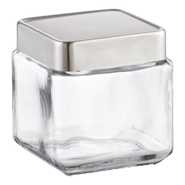 1 qt. Glass Canister Aluminum Lid