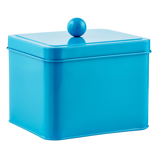 Square Tin Blue