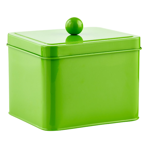 Square Tin Green