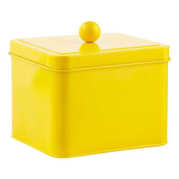Square Tin Yellow