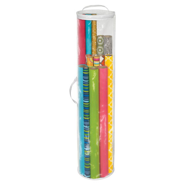 wrapping paper organizer cylindrical gift wrap organizer the container 29388