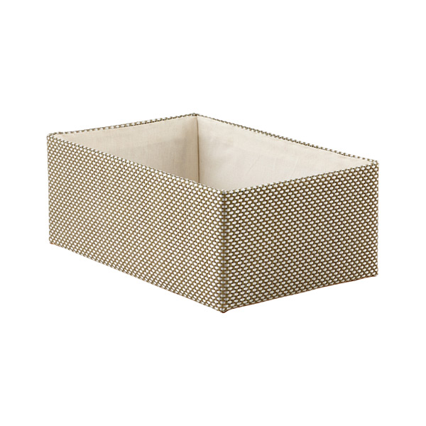 Medium Kiva Storage Bin Sage & Silver