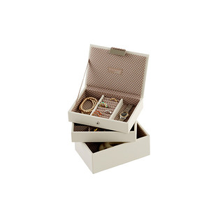 Vanilla Mini Stackers Premium Stackable Jewelry Box