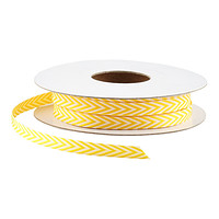 Yellow & White Chevron Ribbon
