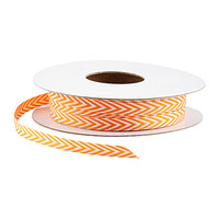 Orange & White Chevron Ribbon