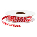White & Red Chevron Ribbon