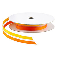 Orange Sheer Two-Tone Ribbon