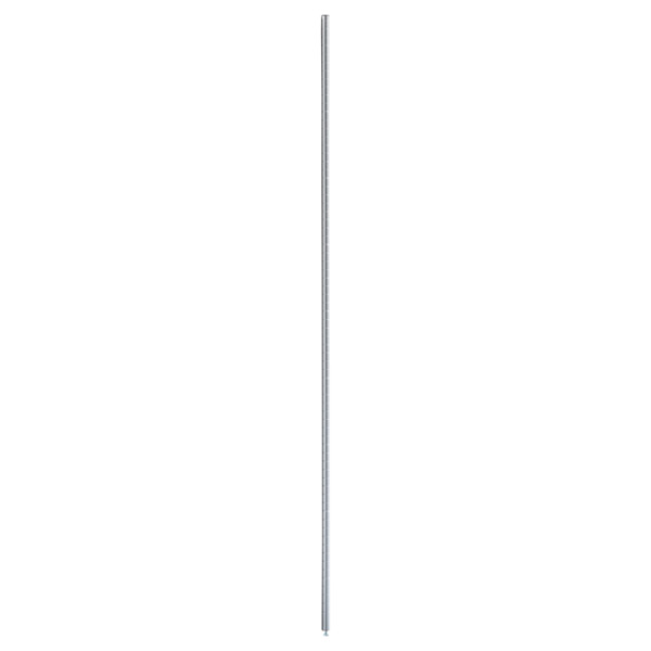 """74-1/2"""" InterMetro Post Silver"""