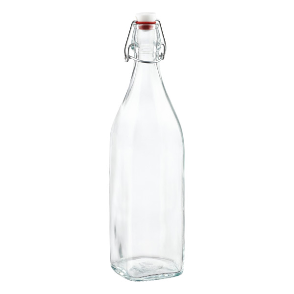 Bormioli 34 oz. Square Hermetic Bottle 1 ltr.