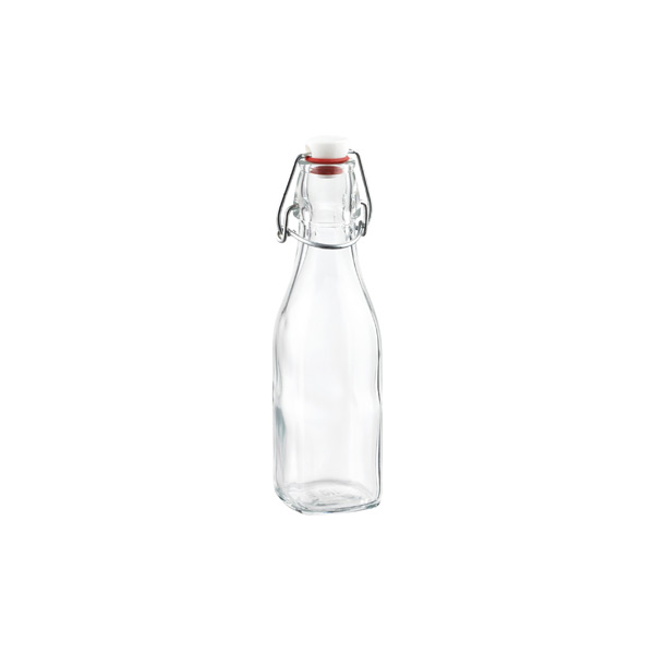 Bormioli 8.5 oz. Square Hermetic Bottle 250 ml.