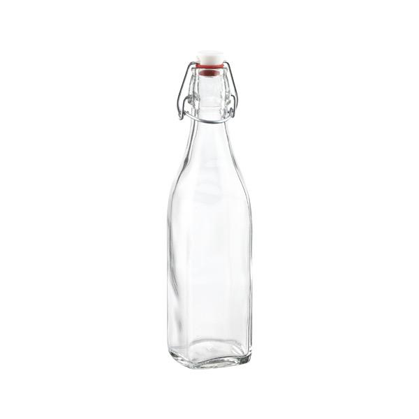 17 oz. Square Hermetic Bottle 500 ml.