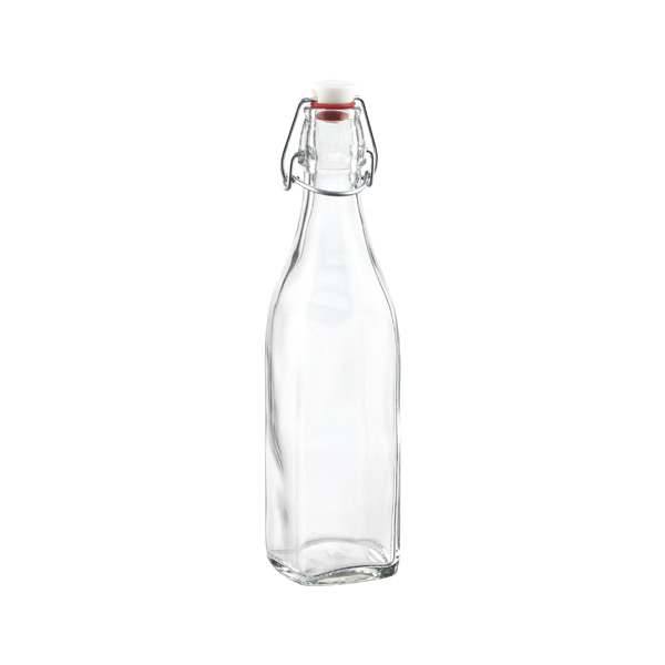 Bormioli 17 oz. Square Hermetic Bottle 500 ml.