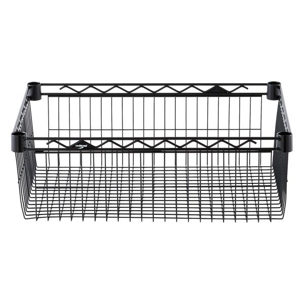 "18"" x 24"" x 8"" h InterMetro Basket Shelf Black"