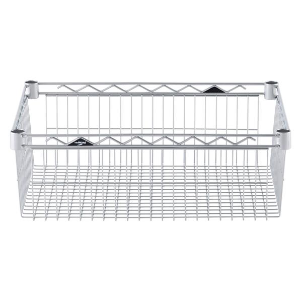 "18"" x 24"" x 8"" h InterMetro Basket Shelf Silver"
