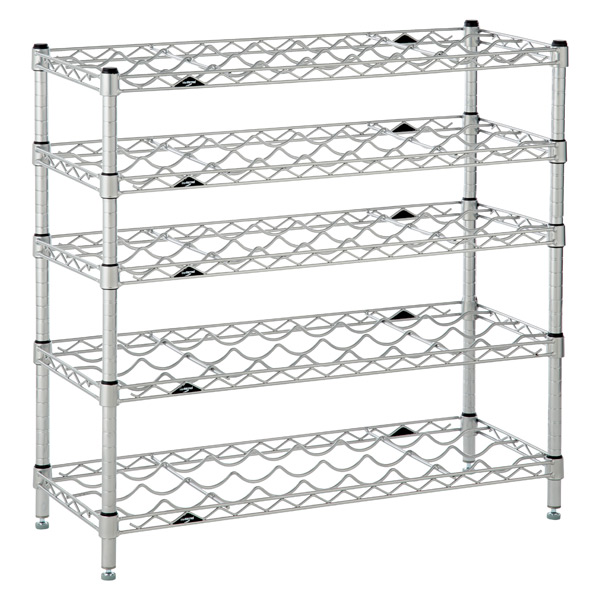 InterMetro 5-Shelf Wine Rack Silver