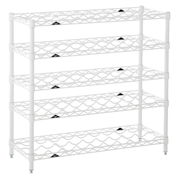 InterMetro 5-Shelf Wine Rack White