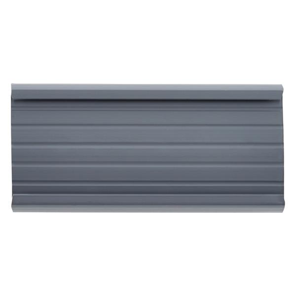 Metro Shelf Label Holders Grey Pkg/4