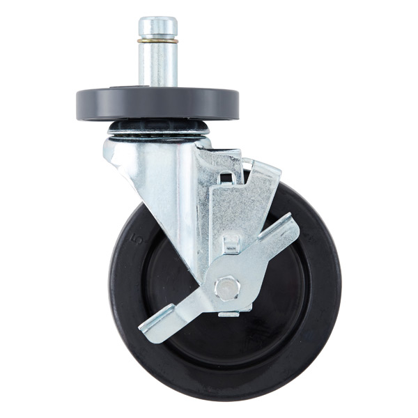 "Metro Commercial 5"" Industrial Caster with Brake"