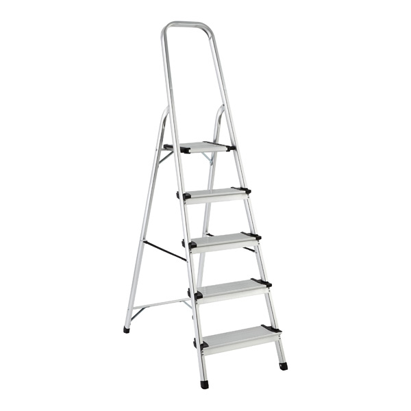 ... Polder 5-Step Ladder Aluminum  sc 1 st  The Container Store : polder step stool - islam-shia.org