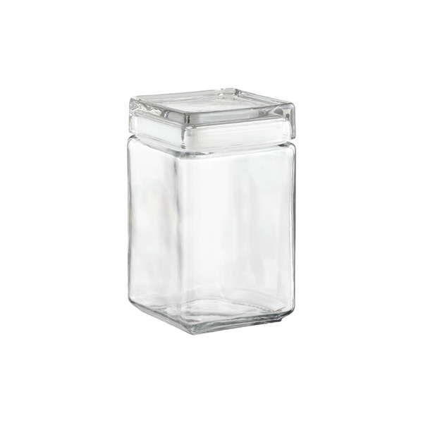 Superb Stackable Square Canister · 64 Oz. Stackable Square Canister. Stackable Square  Glass Canisters ...