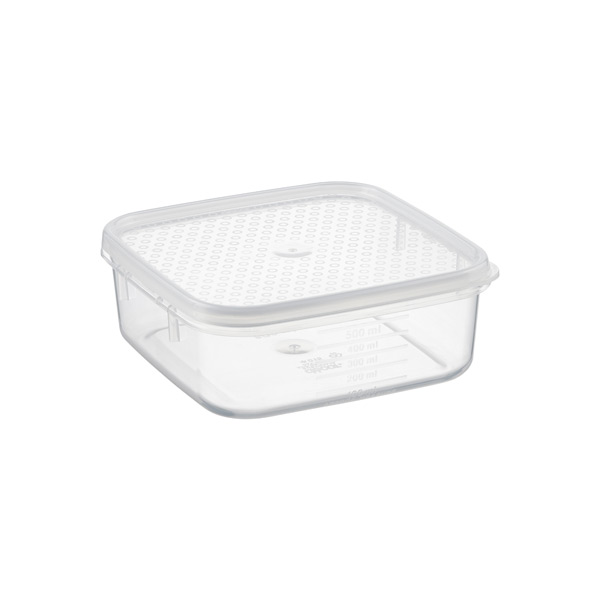 17 oz. Square Tellfresh Food Storage 500 ml.