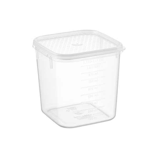 1.2 qt. Square Tellfresh Food Storage 1.125 ltr.
