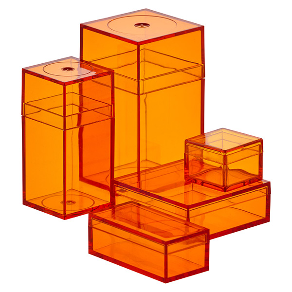 Small Orange Amac Boxes