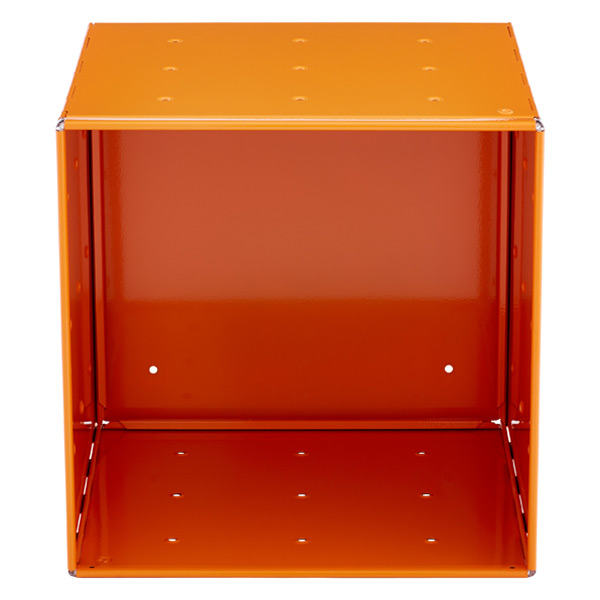 QBO Steel Cube Enameled Orange