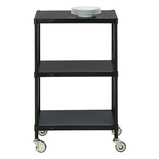 Captivating Small Kitchen Carts On Wheels. InterMetro Solid Shelf Serving Cart