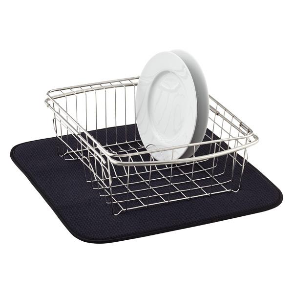 Black Dish Drying Mat