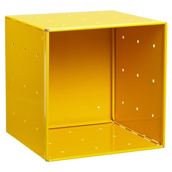 Yellow Enameled QBO Steel Cube