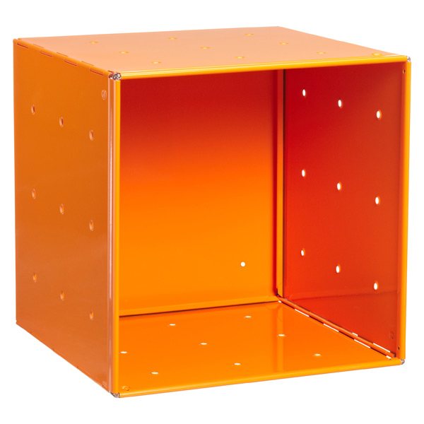 Orange Enameled QBO Steel Cube