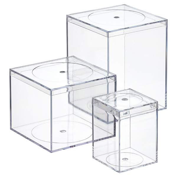 Clear Flush-Lid Amac Boxes