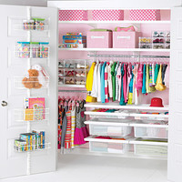 White elfa decor Girl's Reach-In Closet  Product Image