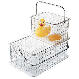 InterDesign Clear Grid Totes